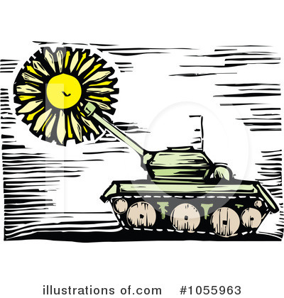Royalty-Free (RF) Military Tank Clipart Illustration by xunantunich - Stock Sample #1055963