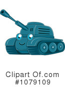 Royalty-Free (RF) Military Tank Clipart Illustration #1079109