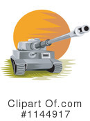 Royalty-Free (RF) Military Tank Clipart Illustration #1144917