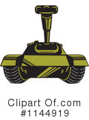 Royalty-Free (RF) Military Tank Clipart Illustration #1144919