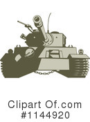 Royalty-Free (RF) Military Tank Clipart Illustration #1144920