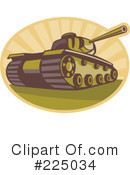 Royalty-Free (RF) Military Tank Clipart Illustration #225034