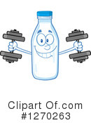 Milk Bottle Character Clipart #1270263 by Hit Toon
