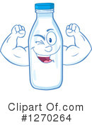 Milk Bottle Character Clipart #1270264 by Hit Toon
