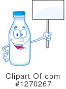 Milk Bottle Character Clipart #1270267 by Hit Toon