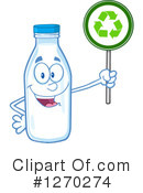 Milk Bottle Character Clipart #1270274 by Hit Toon