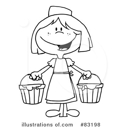 Royalty-Free (RF) Milk Maid Clipart Illustration by Hit Toon - Stock Sample #83198