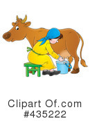 Royalty-Free (RF) Milking Clipart Illustration #435222