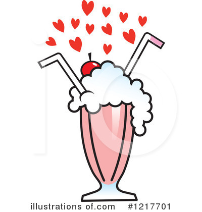 Milkshake Clipart #1217701 by Johnny Sajem