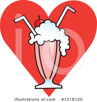 Milkshake Clipart #1218120 by Johnny Sajem