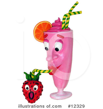 Royalty-Free (RF) Milkshake Clipart Illustration by Amy Vangsgard - Stock Sample #12329