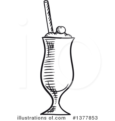 Milkshake Clipart #1377853 by Vector Tradition SM