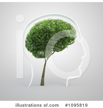 Brain Tree Clipart #1095819 by Mopic