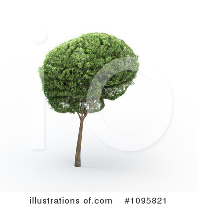 Brain Tree Clipart #1095821 by Mopic