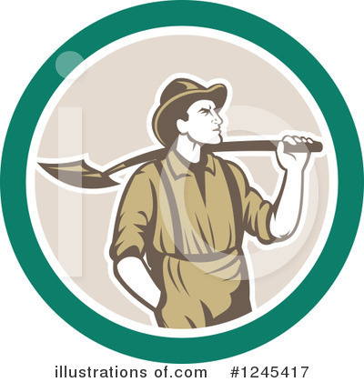 Royalty-Free (RF) Miner Clipart Illustration by patrimonio - Stock Sample #1245417