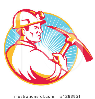 Royalty-Free (RF) Miner Clipart Illustration by patrimonio - Stock Sample #1288951