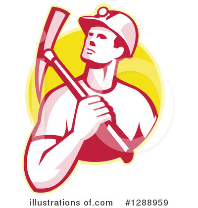 Royalty-Free (RF) Miner Clipart Illustration by patrimonio - Stock Sample #1288959