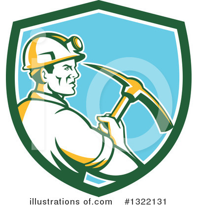 Royalty-Free (RF) Miner Clipart Illustration by patrimonio - Stock Sample #1322131