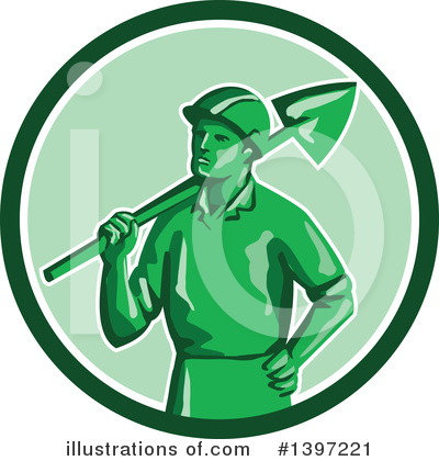 Royalty-Free (RF) Miner Clipart Illustration by patrimonio - Stock Sample #1397221