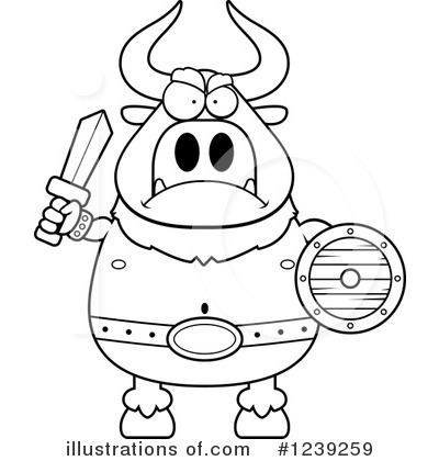 Minotaur Clipart #1239259 by Cory Thoman