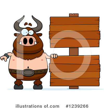 Minotaur Clipart #1239266 by Cory Thoman