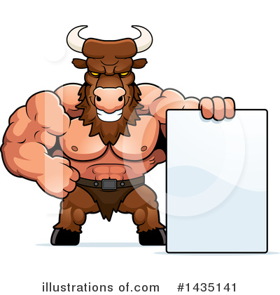 Minotaur Clipart #1435141 by Cory Thoman