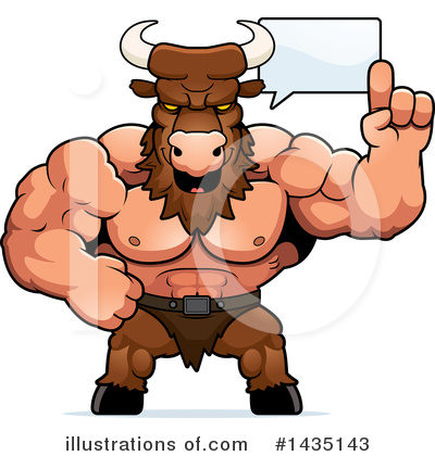 Minotaur Clipart #1435143 by Cory Thoman