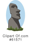 Royalty-Free (RF) Moai Clipart Illustration #61571