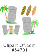 Royalty-Free (RF) Moai Clipart Illustration #64731