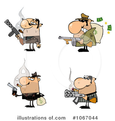 Gangster Clipart #1067044 by Hit Toon