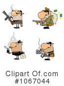 Mobster Clipart #1067044 by Hit Toon
