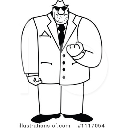 Mobster Clipart #1117054 by Andy Nortnik