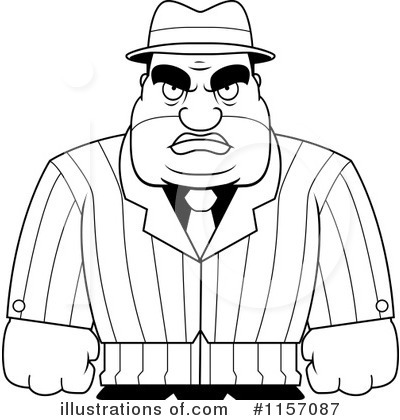Mobster Clipart #1157087 by Cory Thoman