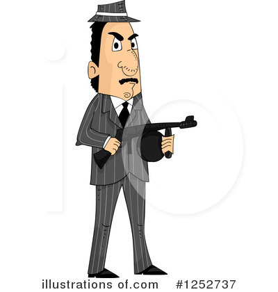 Mobster Clipart #1252737 by BNP Design Studio