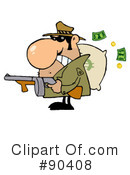 Royalty-Free (RF) Mobster Clipart Illustration #90408
