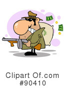 Mobster Clipart #90410 by Hit Toon