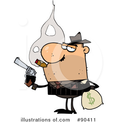 Mobster Clipart #90411 by Hit Toon