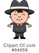 Mobster Clipart #94658 by Cory Thoman