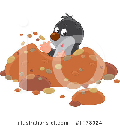 Mole Clipart #1173024 by Alex Bannykh
