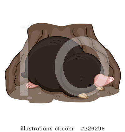 Royalty-Free (RF) Mole Clipart Illustration by BNP Design Studio - Stock Sample #226298