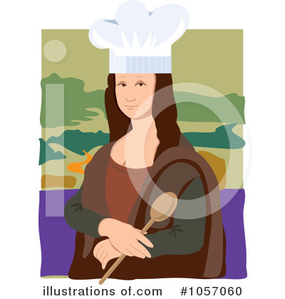 Royalty-Free (RF) Mona Lisa Clipart Illustration by Maria Bell - Stock Sample #1057060