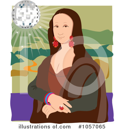 Mona Lisa Clipart #1057065 by Maria Bell