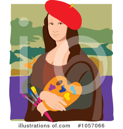 Mona Lisa Clipart #1057066 by Maria Bell