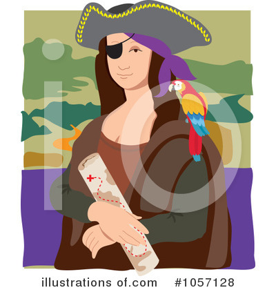 Mona Lisa Clipart #1057128 by Maria Bell