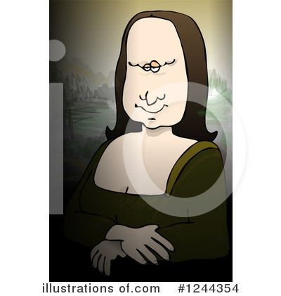Mona Lisa Clipart #1244354 by djart