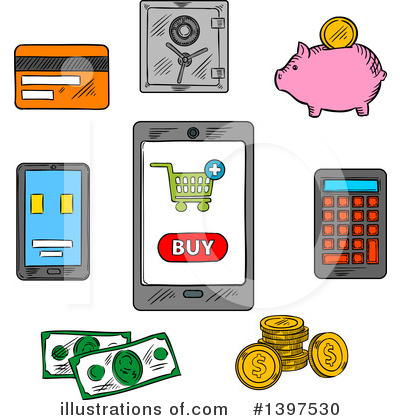 Credit Card Clipart #1397530 by Vector Tradition SM