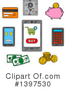 Royalty-Free (RF) Money Clipart Illustration #1397530