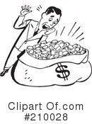 Royalty-Free (RF) Money Clipart Illustration #210028