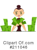 Royalty-Free (RF) Money Clipart Illustration #211046