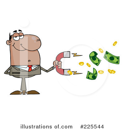 Black Businessman Clipart #225544 by Hit Toon